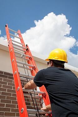 worker on ladder
